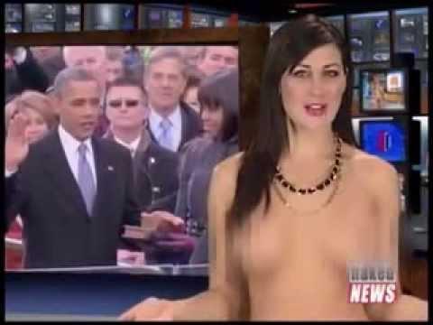 Shock khi MC truyền hình khỏa thân đưa tin về tổng thống Obama