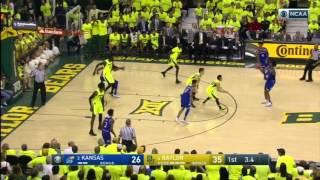 Kansas at Baylor | 2016-17 Big 12 Men's Basketball Highlights