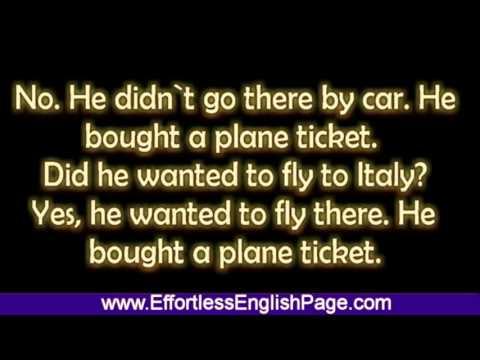 "Effortless English - Mini Story ""John and his travel"""