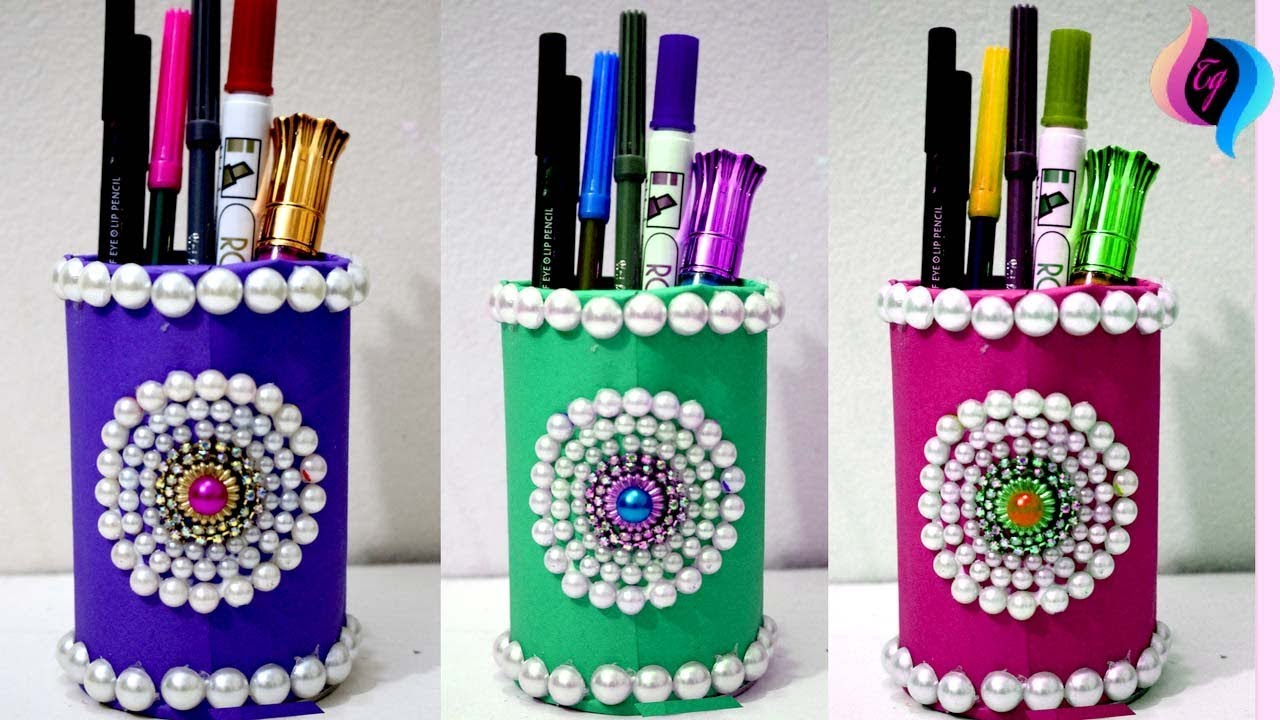 craft ideas by waste material diy creative way to reuse how to make pen stand 6118