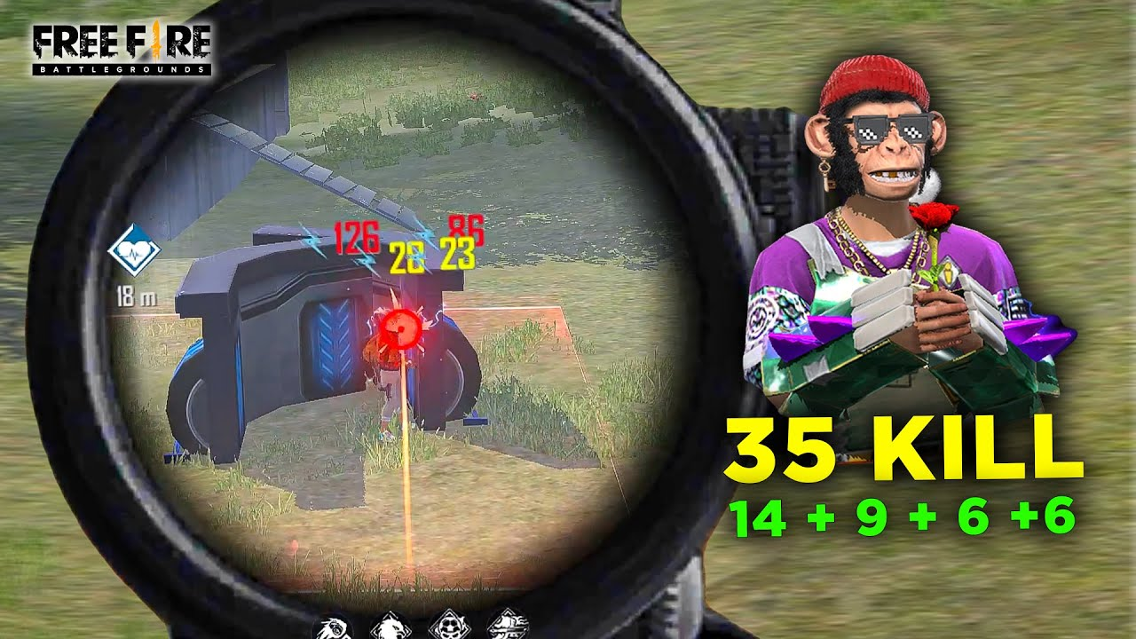 Squad 35 Kill OverPower XM8 and Mp40 Best Gameplay - Garena Free Fire- Total Gaming