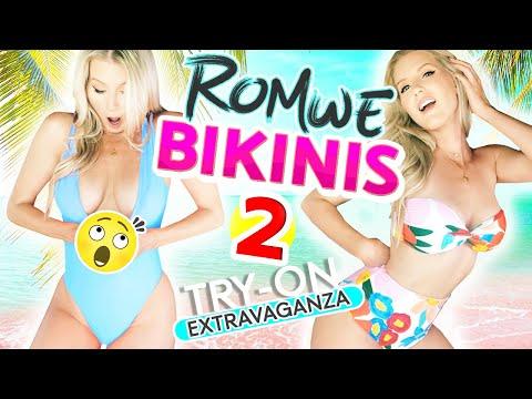 NEW* CHEAP BIKINI TRY ON   Pt. 2   Romwe.com
