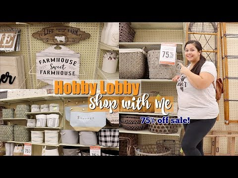 Hobby Lobby Shop with Me! || 75% off Sale!