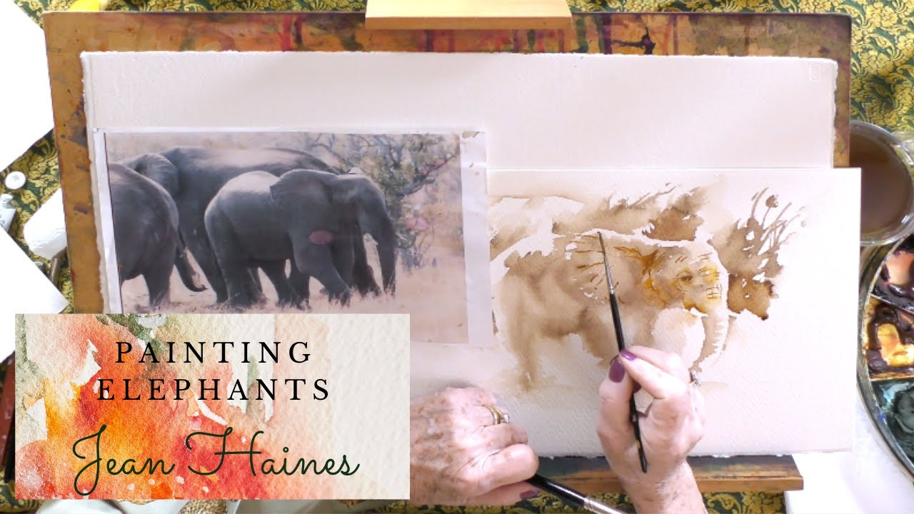 Painting Elephants preview with Jean Haines Watercolour Inspiration