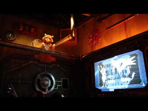 Guardians of the Galaxy : Mission Breakout (Full Queue, Pre-show and Ride)