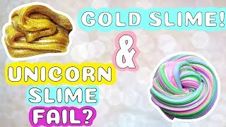 DIY Gold Slime and Unicorn Putty Slime | Magic Time | Slime Factory!!!