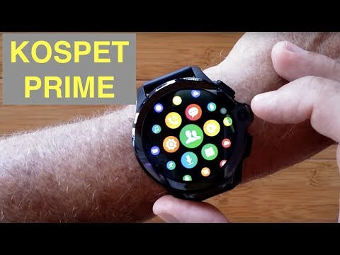 KOSPET PRIME 4G Android 7.1.1 Dual Camera IP67 3GB/32GB Waterproof Smartwatch: Unboxing And 1st Look