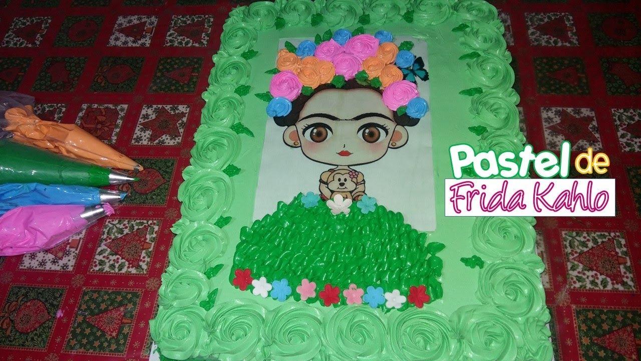 Pastel de tres leches decorado de frida kahlo youtube for Cuartos decorados de frida kahlo