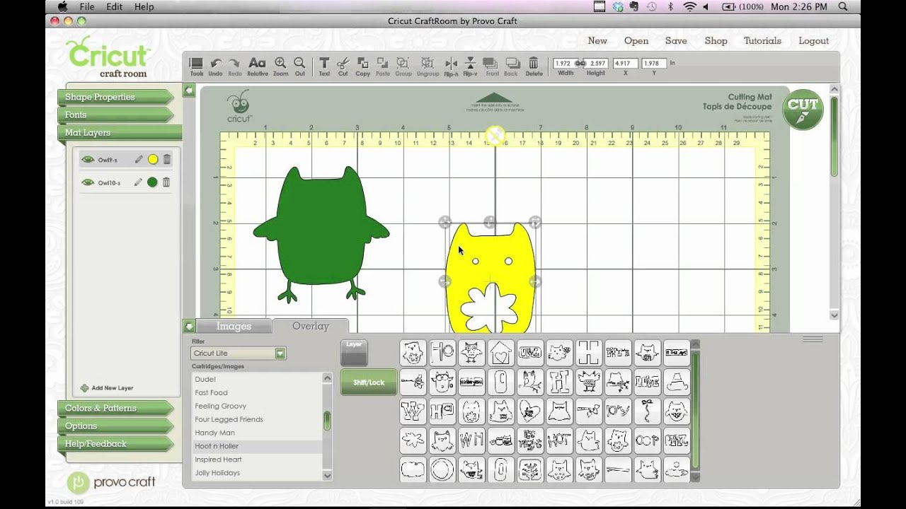 Cricut craft room easy layering design tip youtube for Cricut craft room download