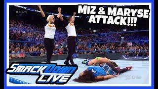 MIZ & MARYSE ATTACK DANIEL BRYAN & BRIE BELLA Reaction | WWE Smackdown Live 8/28/18