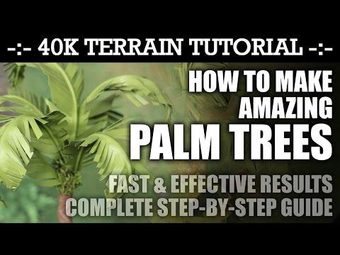 Terrain Tutorial: How To Make Amazing PALM TREES! (Desert