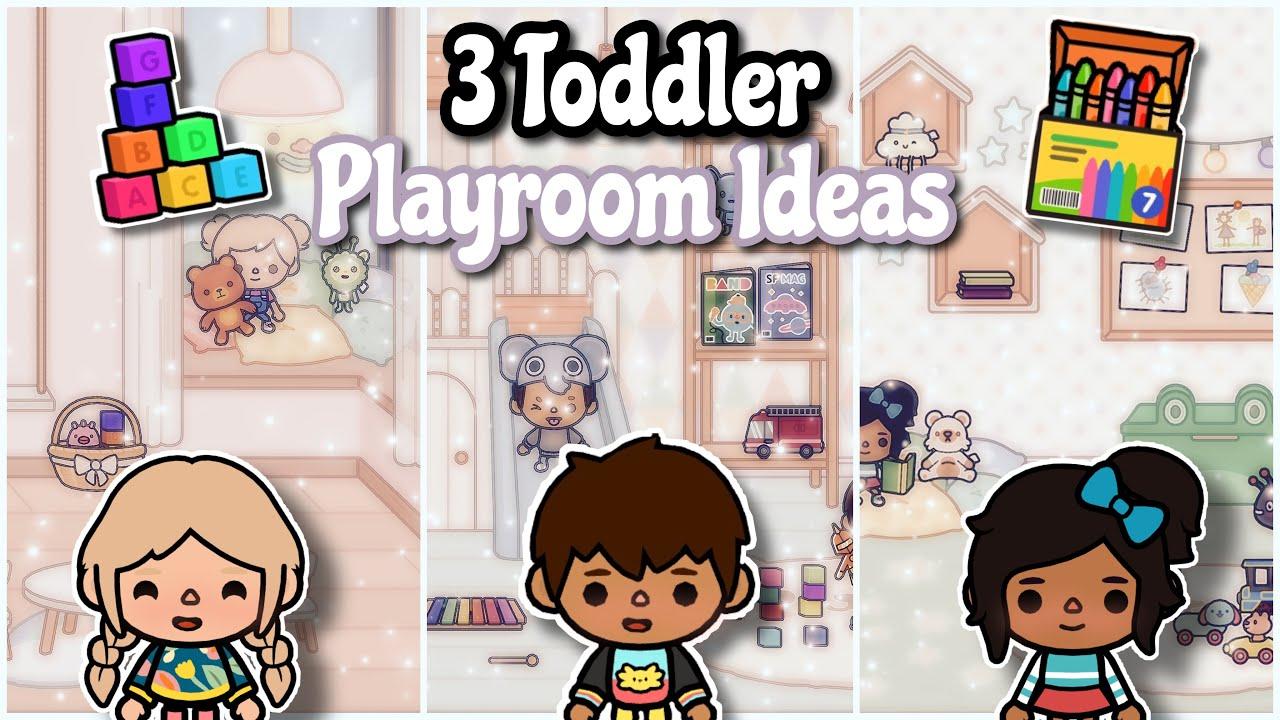 3 Toddler playroom ideas  Toca life world ♡︎