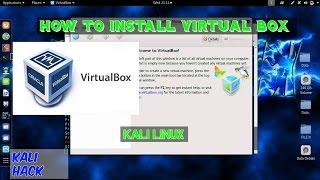 How to install Virtualbox in Kali linux 2019