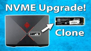 How To Clone NVMe SSD to Larger NVMe SSD : HP Omen Laptop Example