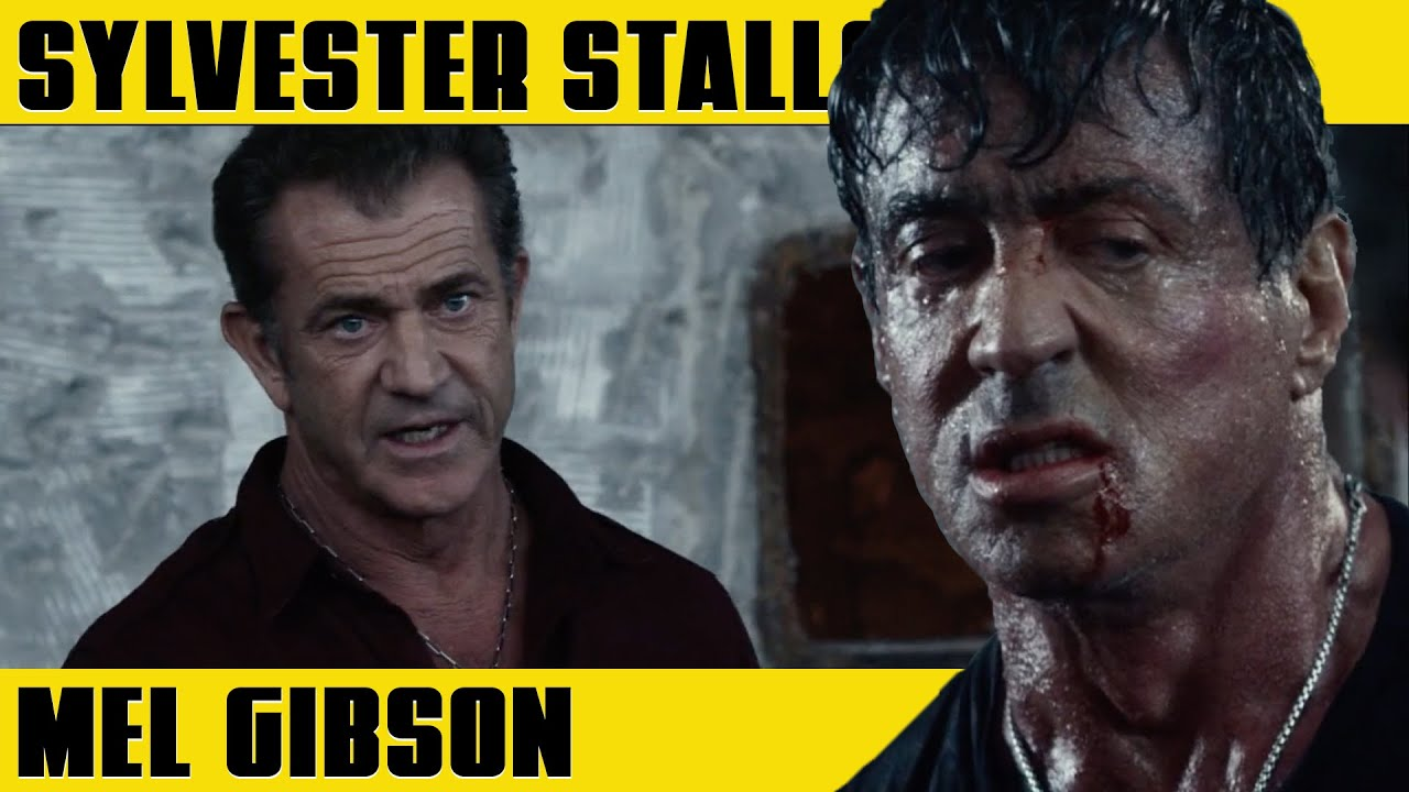 SYLVESTER STALLONE vs MEL GIBSON | THE EXPENDABLES 3 (2016)