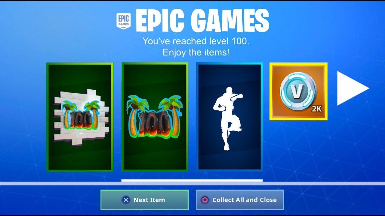 The New Level 100 Rewards In Season 8 Fortnite Battle Royale