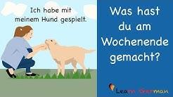 Learn German | German Speaking | Was hast du am Wochenende gemacht? | Sprechen - A1 | A2