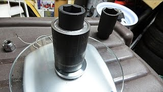 honda crank pulley bolt socket with tubing