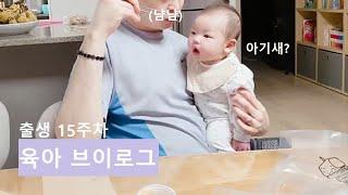 [출생 15주차] 육아 브이로그   100일 아기의 옹…