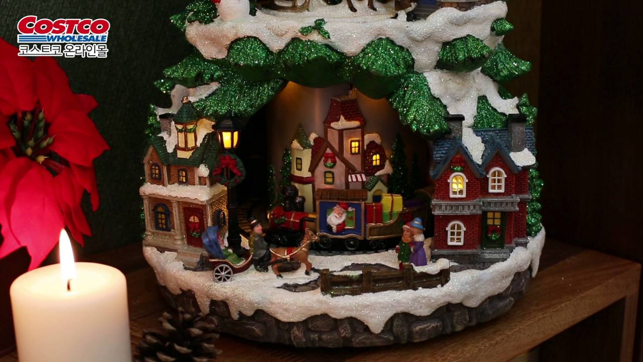 costco online led tree w animated scene - Animated Christmas Village