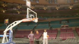 Joe Johnson tries to top LeBron with a sitdown 3 pointer