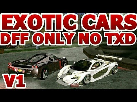 Top 10 Best Gta San Andreas ANDROID: Exotic and Luxurious Cars Dff