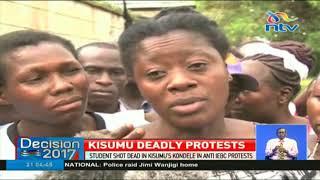 Student shot dead in Kisumu anti-IEBC protests