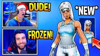 Streamers React to *NEW* FROZEN RENEGADE RAIDER In Fortnite! (Fortnite Moments)