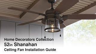 52 in. Shanahan Ceiling Fan Installation Guide
