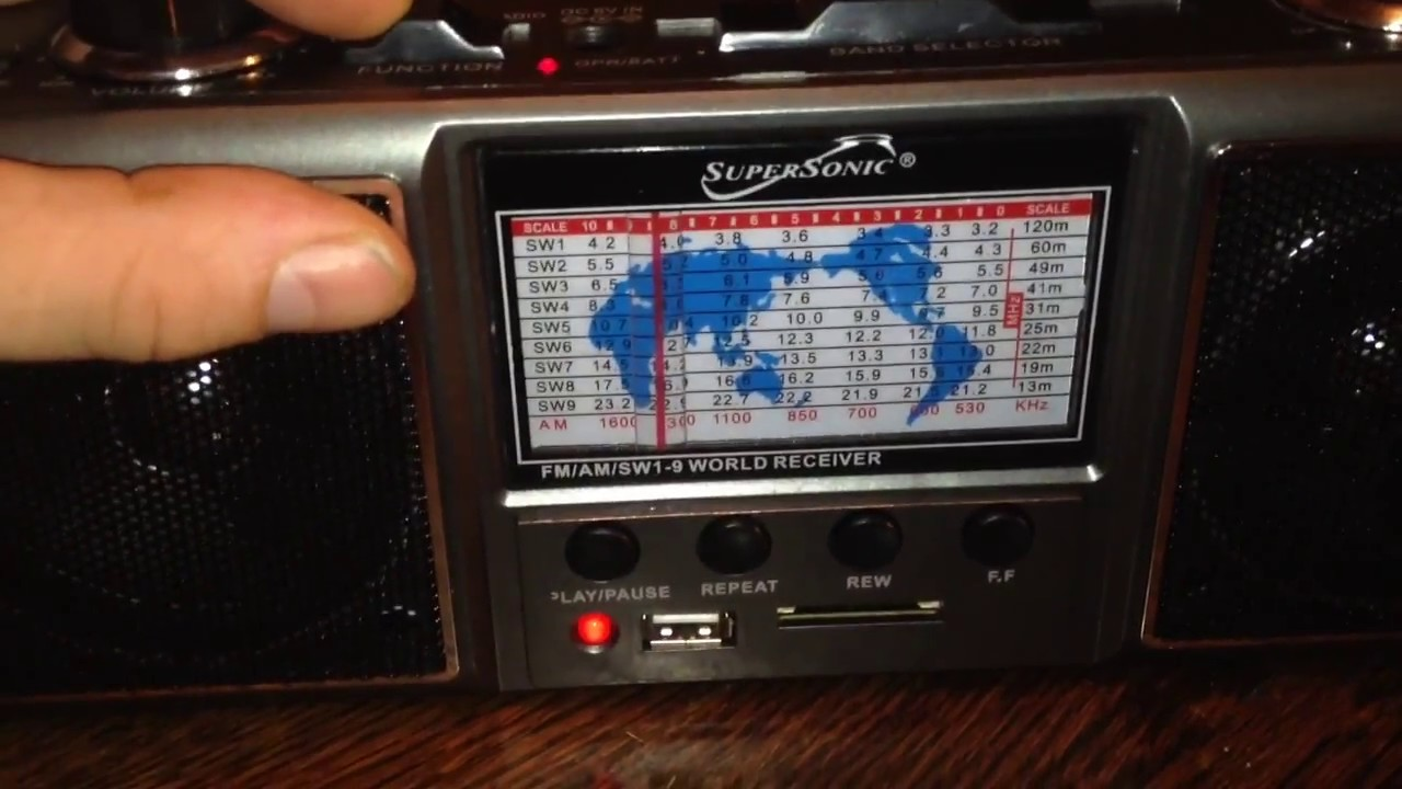 Supersonic SC-1087 11 band AM/FM/SW radio w/ USB/SD REVIEW