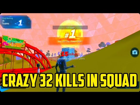 Crazy 32 kills in squad win. CREATIVE DESTRUCTION