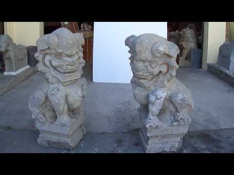 Chinese Antique FenShui Foo Dog Statue WK1904