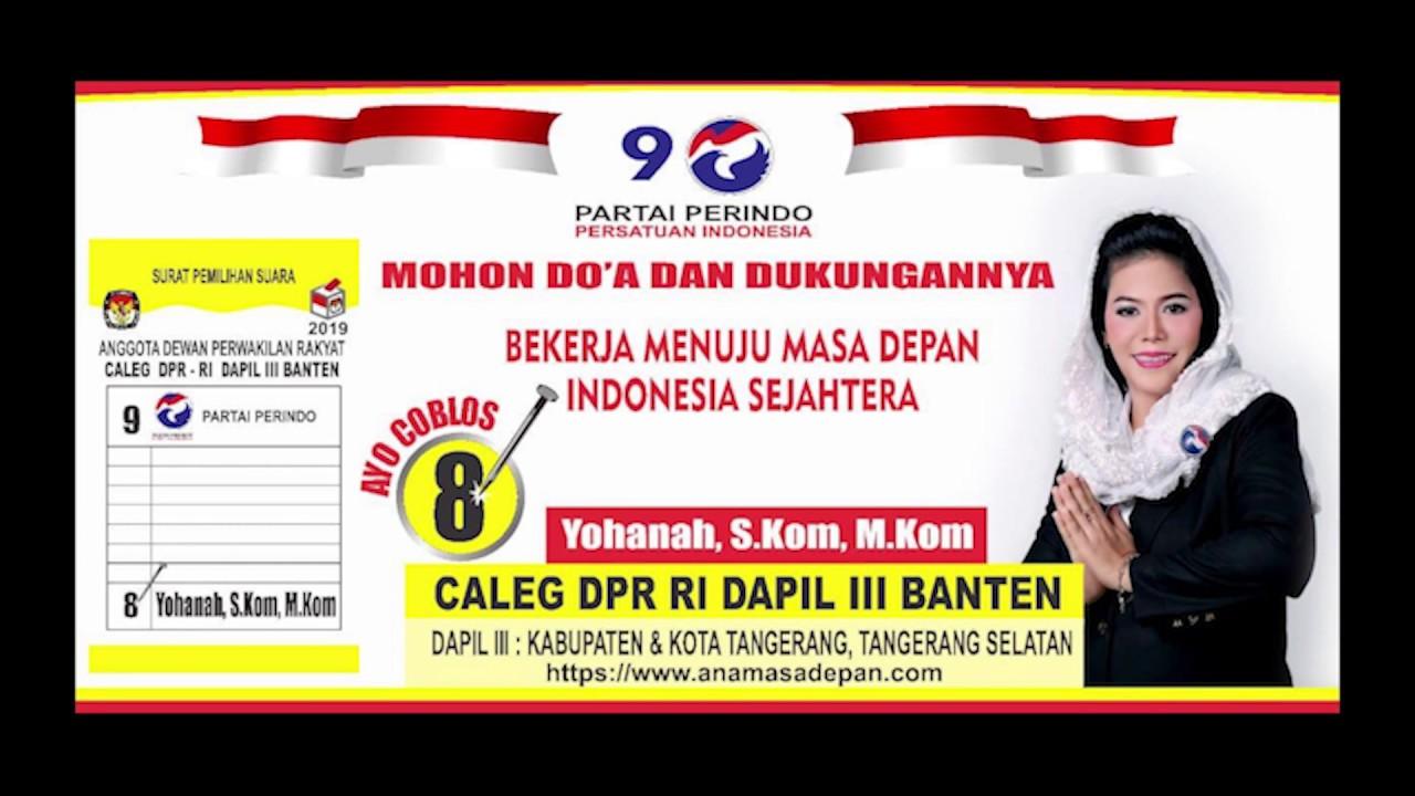 Yohanah S Kom M Kom Caleg Dpr Ri Dapil Iii Banten No