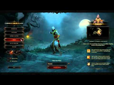 Diablo III : Lets Play - Part 1 - Character Creation, Tips and Advice