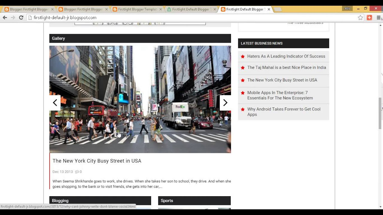 Firstlight default blogger template upload part 2 youtube firstlight default blogger template upload part 2 pronofoot35fo Image collections