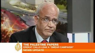 Saeb Erekat Condemns Palestine Papers