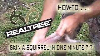 How To Skin A Squirrel In One Minute