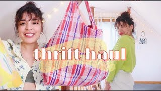 NYC Thrift With Me + HUGE summer haul! clothing, decor, & a lil