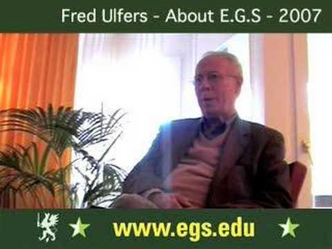 Fred Ulfers. About European Graduate School. 2007