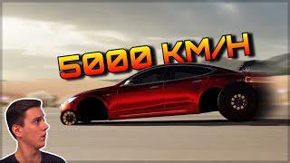 500 MILLION HP Tesla Dragster | Forza Horizon 3 Dev Mods | 5000km/h Speed Record
