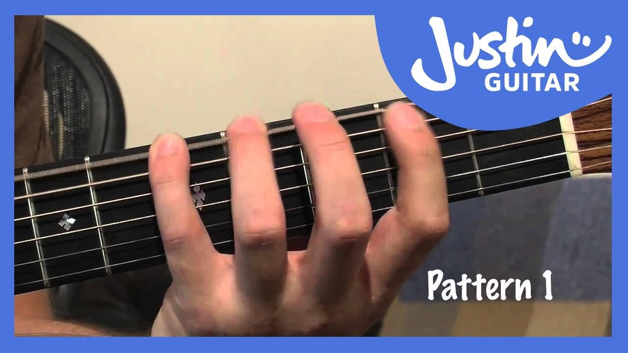 A Shape Major Barre Chord Grip Justinguitar