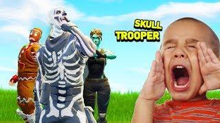 How Kids REACT to RARE SKINS (Fortnite Battle Royale)