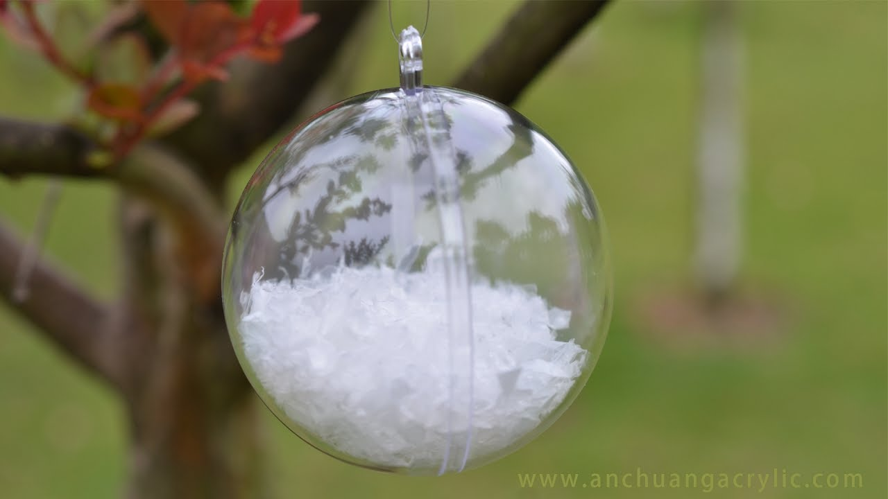clear plastic fillable ball christmas ornaments youtube. Black Bedroom Furniture Sets. Home Design Ideas