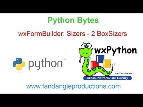 wxFormBuilder Sizers - 2 BoxSizers - YouTube