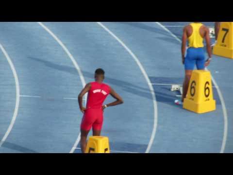 Jamaica Carifta Trials Boys Under 20 400M Finals... A blistering 45.41