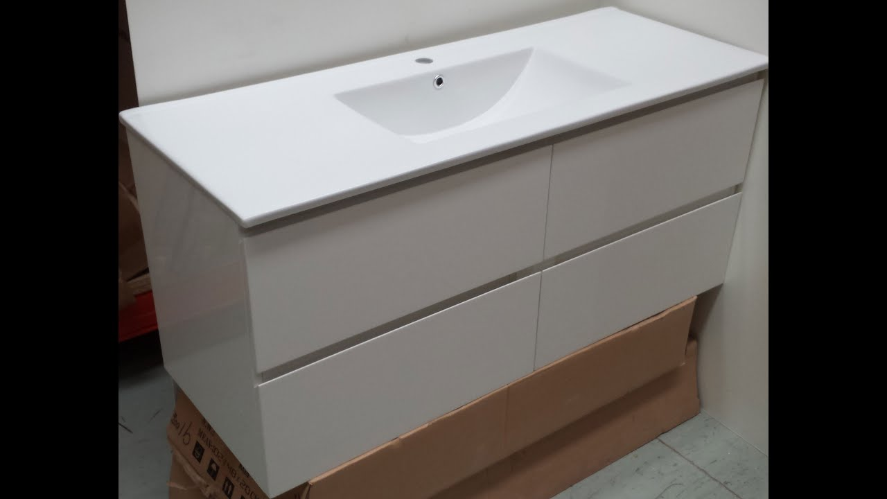 Buy Bathroom Wall Hung Vanity 1200 mm [Cabinet only] - YouTube