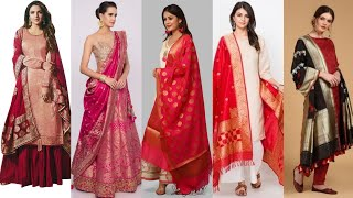 45 Gorgeous wear silk dupatta …