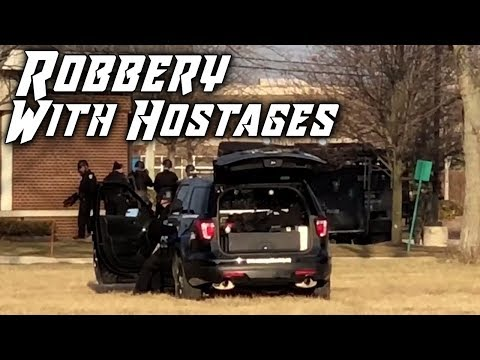 Bank ROBBERY In Canton, Michigan *WITH HOSTAGES* - 1/25/2018