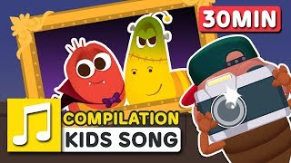 HALLOWEEN MONSTER WORLD 30MIN COMPILATION | LARVA KIDS | SUPER BEST SONGS FOR KIDS |  HALLOWEEN SONG