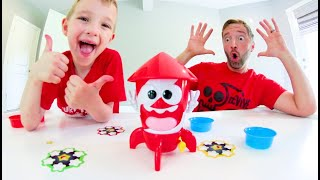 Father & Son PLAY POP ROCKET! / Catch The Most Stars!